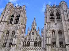 Picture showing the St. Michael and St. Gudula Cathedral in Brussels
