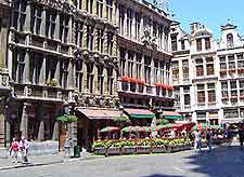 Different view across the Brussels Grote Markt (Grand Place)