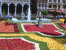 Brussels flower festival picture, on the Grote Markt (Grand Place)