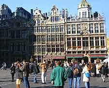 Further view of shoppers on the Grote Markt