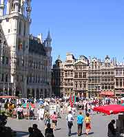 Photo of the city centre and the Grote Markt
