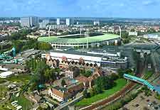 Brussels Airport (BRU) Directions: Aerial view of the Heisel Stadium