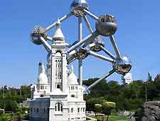 Brussels Tourist Attractions: Picture of Miniature Europe, with the Atomium in the background