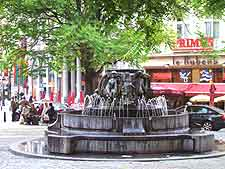 View of the central shopping district of Brussels