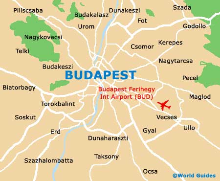 Orientation: District, Street and Region Map of Budapest - Budapest, Hungary