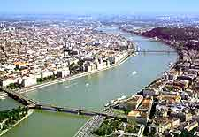 Aeria picture of the River Danube