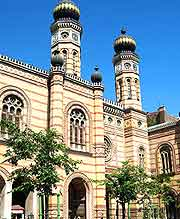 View of the Great Synagogue (Dohany Street Synagogue)