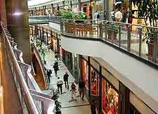 Interior view of the mall
