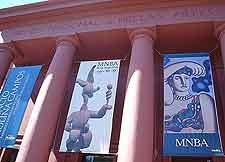 Close-up image of the Museo Nacional de Bellas Artes