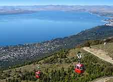 Aerial view of 'gondola' cable cars