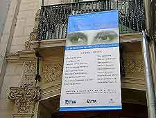 Image of the Museo Evita sign (Evita Peron Museum)