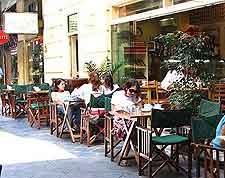 Al fresco dining view