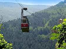 Photo showing popular cable car rides