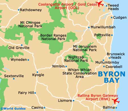 Small Byron Bay Map