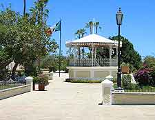 View of the Town Square gazebo