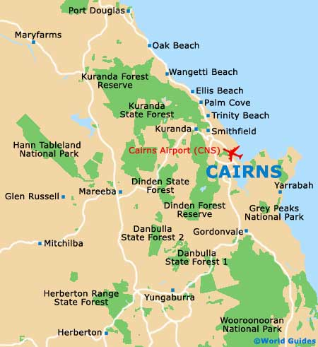 Cairns Maps and Orientation: Cairns, Far North Queensland, Australia