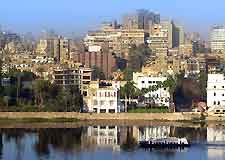 Photo of the city and the River Nile