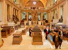 Interior picture of the Egyptian Museum