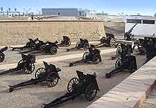 Photo of cannons at the Museo del Ejercito (Military Museum)