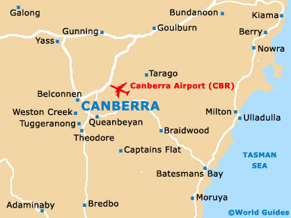 Small Canberra Map