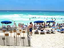 Photo of sunbathers on the beachfront