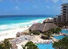 Photo of Cancun's beautiful beachfront