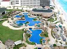 Aerial image of Cancun resort