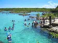 Image showing snorkelling Xel-Ha Ecological Park