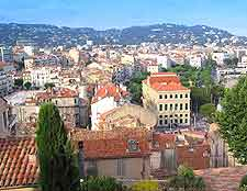 Aerial view across Cannes