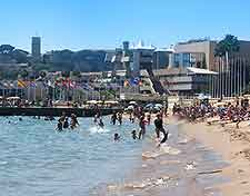 Picture of the beach in the summer season