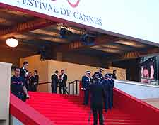 Photo showing the red carpet at the prestigious Film Festival