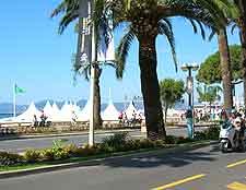 Picture showing the road next to La Croisette