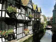 Photo of historic houses edging the River Stour