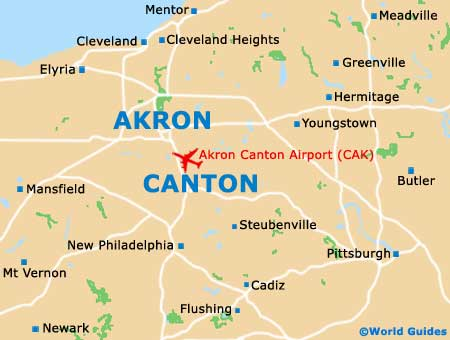 Canton Oh On Us Map - Akron on us map