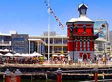 Image of the clock Tower at the Victoria and Albert Waterfront