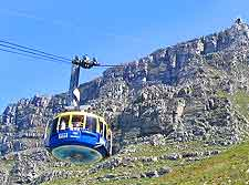 Photograph showing Cape Town's Table Mountain Cable Car