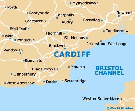 Cardiff Maps Maps of Cardiff Wales UK