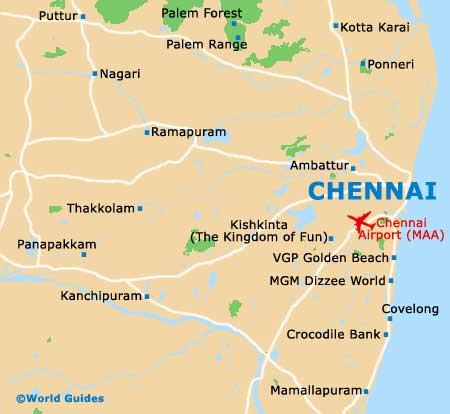 Small Chennai Map