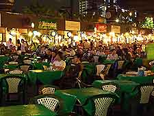 Picture of dining tables at the Night Bazaar