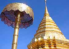 View of the Wat Phrathat Doi Suthep