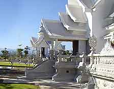 Picture of white temple in the sunshine
