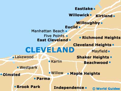 Cleveland Maps And Orientation Cleveland Ohio OH USA - Map usa ohio