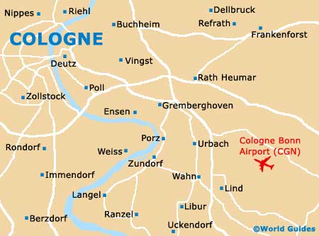 Map Of Germany Showing Cologne.Map Of Cologne Bonn Airport Cgn Orientation And Maps For Cgn