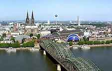 Aerial picture of the Koln skyline