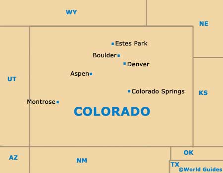 Map Of Colorado. Colorado CO State Map