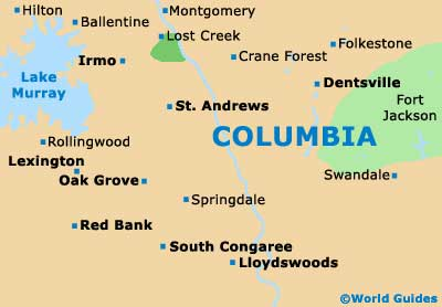 Columbia Maps and Orientation: Columbia, South Carolina