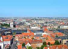 Scene over the city of Copenhagen