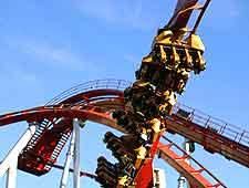 Photo of roller coaster at the Tivoli Amusement Park