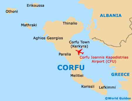 Small Corfu Map