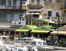 Picture of waterfront dining in Bastia